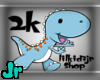 2k support dino sticker