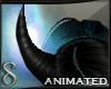 -S- Azure Demon Horns