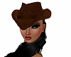 Leather Cowgirl Hat