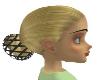 Short hair in bun