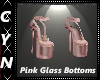 Pink Glass Bottoms