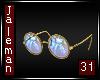 Retro Gold Glasses
