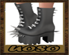 Grey Spike Shoes