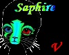 Saphire ankle fluff