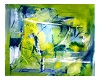 lime blue oil painting