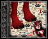 Red&Black Wolf Feet (M)