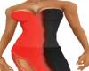 *FM* Red/Blk 1/2 Dress
