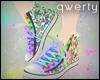 !Q! Rainbow Doodle Shoes
