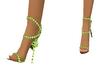 elegante chaussure verte