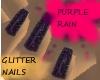 PURPLE RAIN )NAILS(