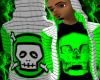 *CA* Green Skull Hoody
