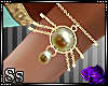 Ss:Pearls Gold Armband L