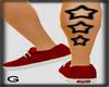 G* Stars leg tattoo 'R