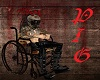 Horror Bloody Wheelchair