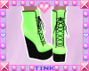 Wedge Boots | Green