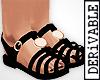 ! Black Sandals
