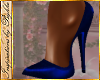 I~Royal Blue Satin Pumps