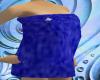 Fuzzy Blue Towel W/ Flwr