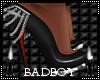 black an silver heels