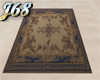J68 Blue And Tan Rug
