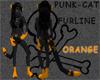 Punk-cat ORANGE ears