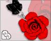 LL* Red Rose Earrings