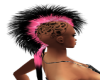 pink&black long skull