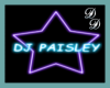 DJ Paisley Floor Sign