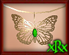 Butterfly Necklace Green