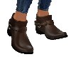 COWGIRL BROWN ANKLE BOOT