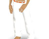 white pants orange belt