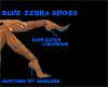 GATA'S BLUE ZEBRA SHOES