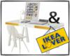 loft ikea yellow desk
