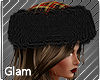 Plaid Black Fur Hat