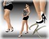 ^K^ White Dolly Heels
