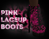 Pink Laceup Boots