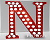 H. Marquee Letter Red N