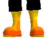 flame color boots