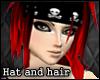 skull bandana b/r hair