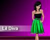 (M) Lil Diva Green Dress