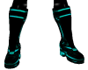 male pvc teal boots