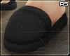 Black Bathroom Slippers