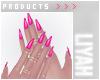ت Pink Nails