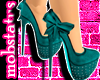 [MJ] Teal Letto Heels