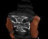 jean iron cross vest