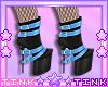 Black - Blue Boots