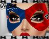 Harley Blue Red Mask