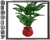 50's Red Vased Plant 2