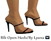 L / Blk Open Heels
