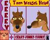 Toon Weasel Head [M]